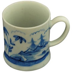 "Coffee Can, Blue and White ""Bamboo and Pagoda"", Bow Porcelain, circa 1751"