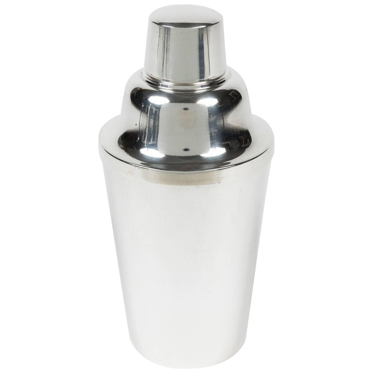 Silver Plated Metal Cocktail Shaker by R. Wallace & Sons For Sale