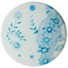 Cathy Graham Decoupage Blue Plate