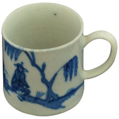 "Coffee Can, Blue and White ""Cross-Legged Man"", Bow Porcelain, circa 1751"