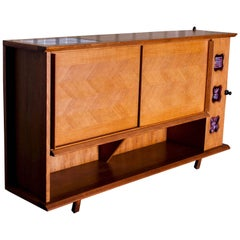 Oak Sideboard by Votre Maison, Guillerme et Chambron, circa 1960, France