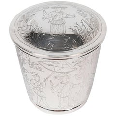 Round Lidded Container in Sterling Silver by Tiffany & Co