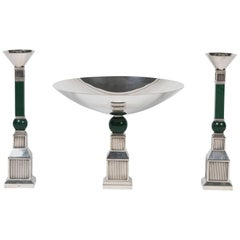 Table Garniture with Candleholders and Compote by Gucci