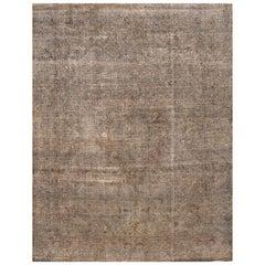 Vintage Tan/Gray Distressed Overdyed Carpet
