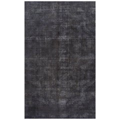 Vintage Blue/Gray Distressed Overdyed Gallery Carpet