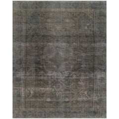 Vintage Gray/Tan Distressed Overdyed Carpet