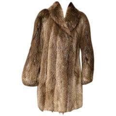 Long Haired Beaver Fur Coat