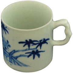 "Coffee Can, Blue and White ""Scholar's Rock"" Bow Porcelain, circa 1751"