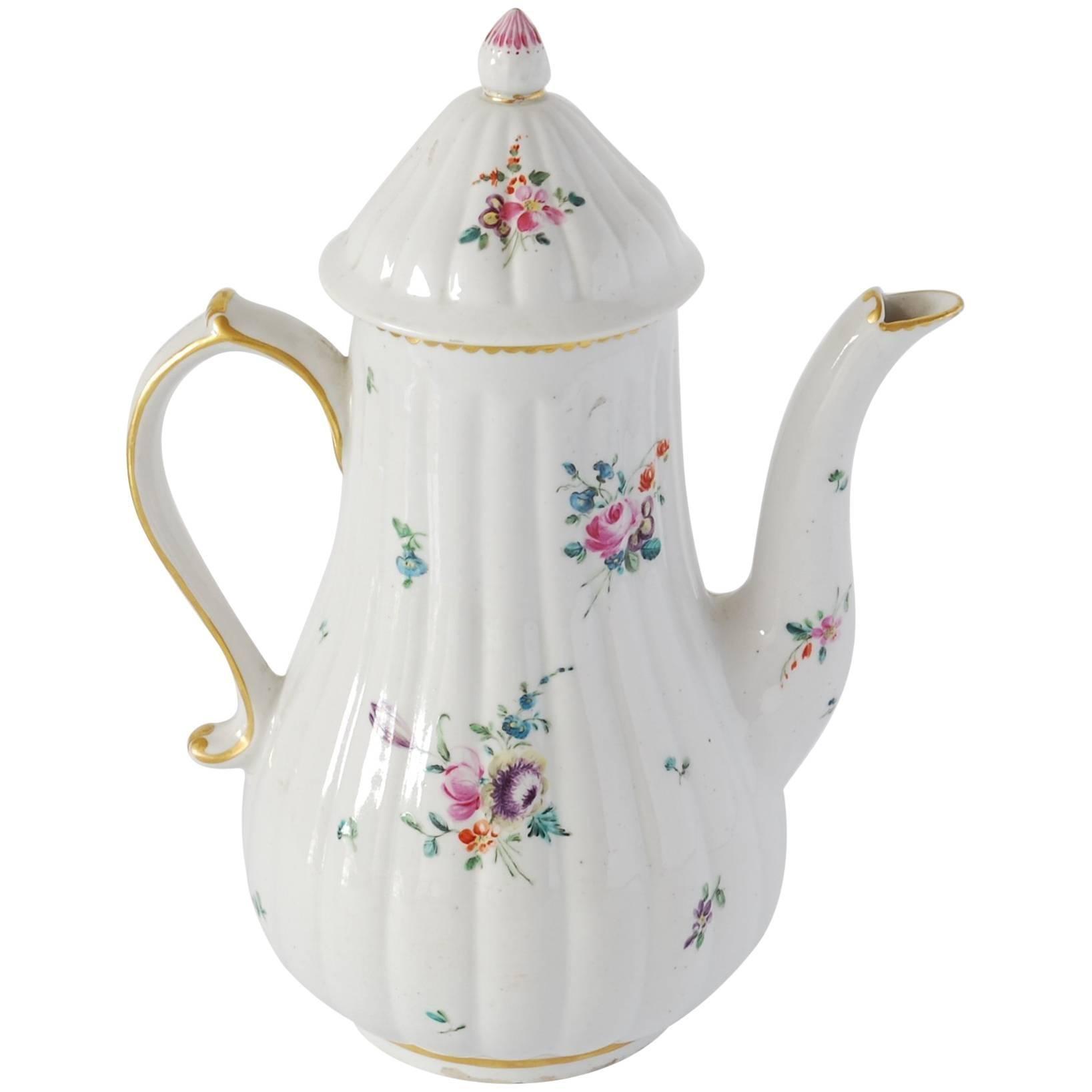 Coffee Pot, Derby Porcelain Works, circa 1775
