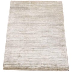 Small Modern Bamboo Silk Area Rug