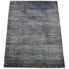 Blue Bamboo Silk Area Rug