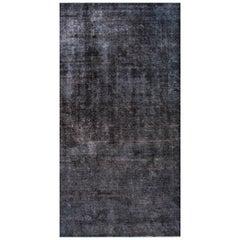 Vintage Blue/Gray Distressed Overdyed Carpet