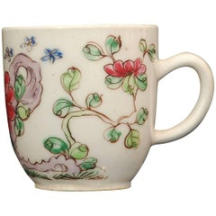 "Coffee Cup, Polychrome ""Famille Rose"", Bow Porcelain, circa 1750"
