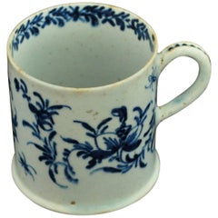 "Coffee Can, Blue and White ""Flowers and Insects"", Bow Porcelain, circa 1755"