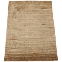 Small Modern Bamboo Silk Area Rug
