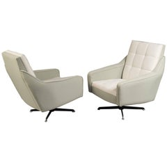 Pair of Swivel Chairs, Italy, 1970s