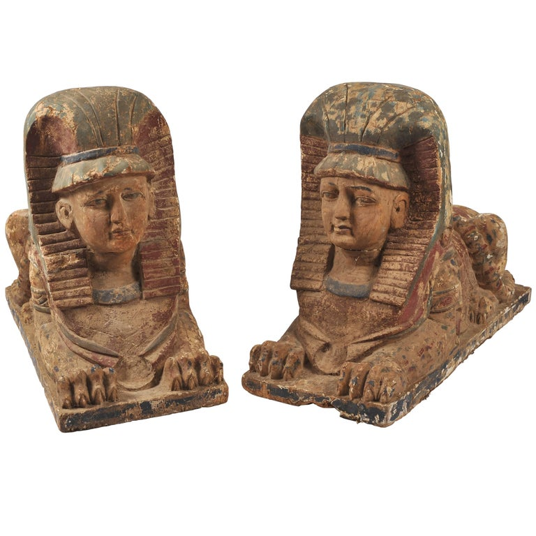 Pair of 19th Century Sphinxes