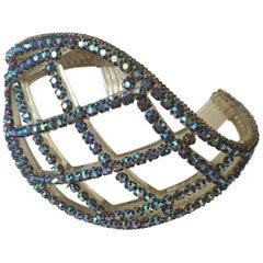 Rare Vintage 1950s Borealis Rhinestone Tiara Wedding Crown