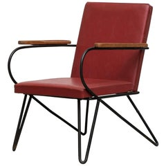 French Wire Lounge Chair in the Manner of Jean Royere