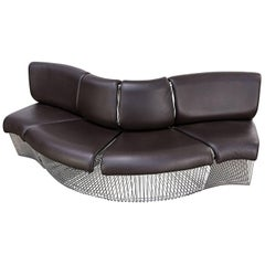 1970s Verner Panton Sofa 'Pantonova' Four-Piece for Fritz Hansen