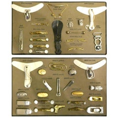 Sample Cards of Salesman's Shirt Accessories for Gentlemans Outfitter