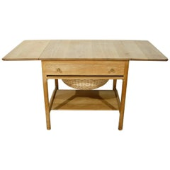 Hans J. Wenger for PP Mobler Oak Sewing Table Model AT-33 / PP-33, Denmark 1950s