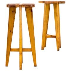 Lisa Johansson Pape Pine Stools for Stockmann AB, Set of Two