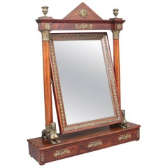Large 19th Century French Empire Dressing Mirror