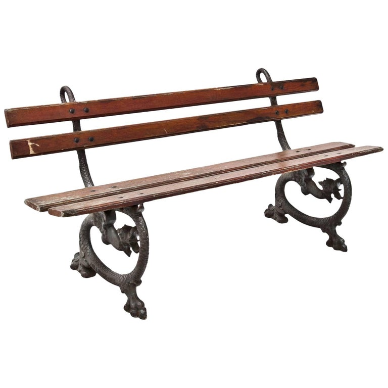 Italian Park Bench by Necchi, Pavia, Mid-20th Century