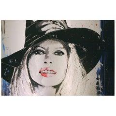 Brigitte Bardot Photography on Brushed Aluminium