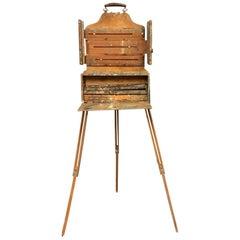 Antique Portable Artist Painters Easel