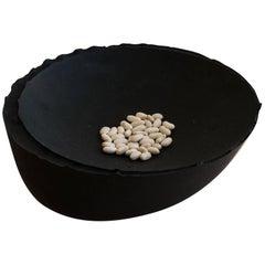 Handmade Cast Concrete Bowl in Black by UMÉ Studio