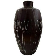 Axel Brüel, Monumental Ceramic Floor Vase, Denmark, 1960s
