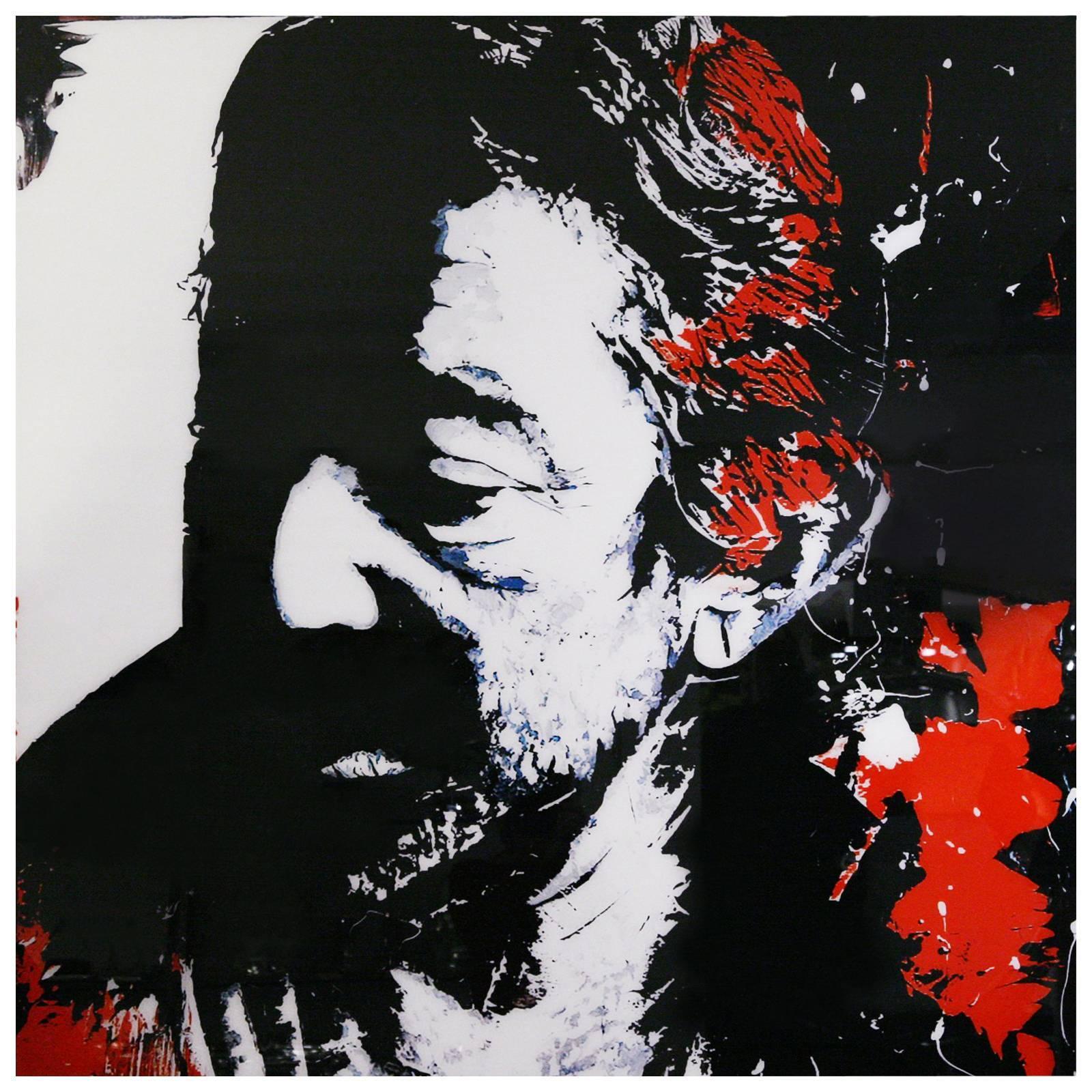 Serge Gainsbourg Photography on Plexiglass
