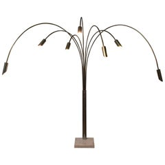 High Monumental Flexible Adjustable 1950s or 1960s Floor Lamp