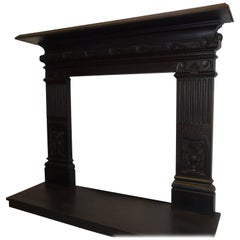 19th Century Victorian Cast Iron Fireplace Surround