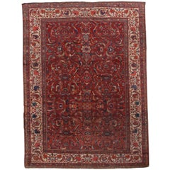 Handmade Antique Persian Sultanabad Rug, 1880s