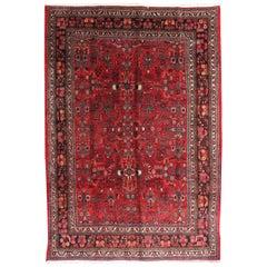 Handmade Antique Persian Hamadan Rug, 1910s