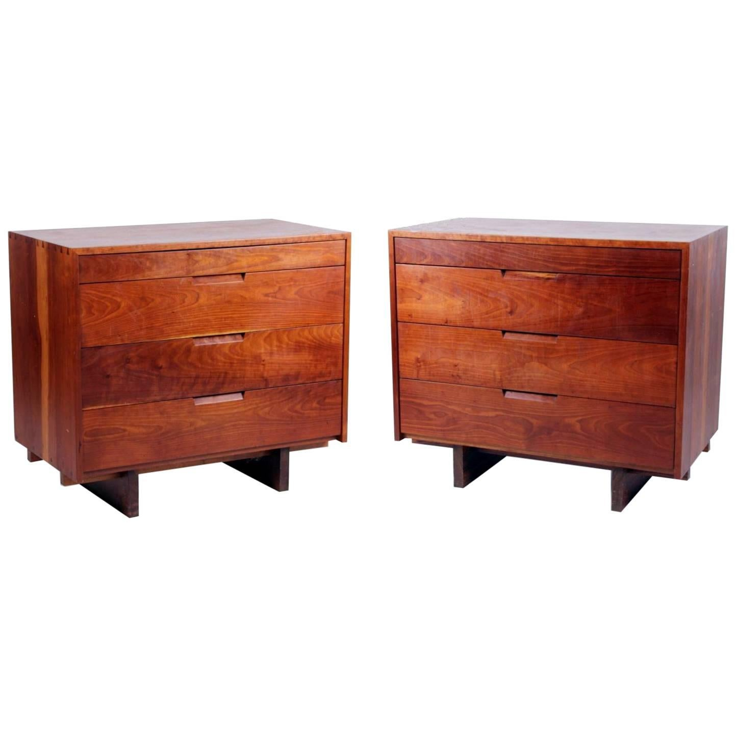 Pair of Dovetailed Dressers by George Nakashima