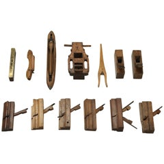 Collection of '13' Antique French Woodworking Tools
