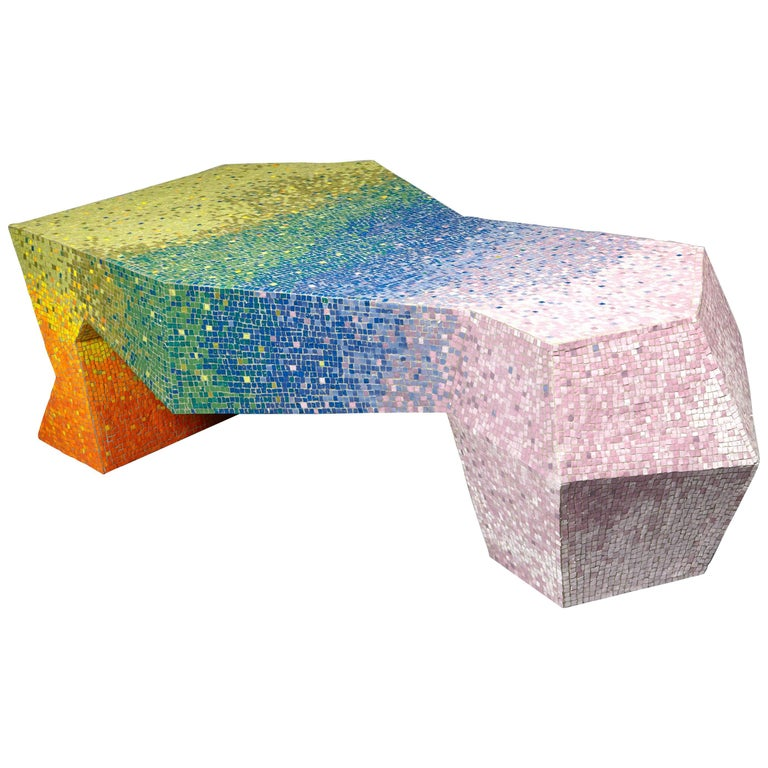 """Iris"" coffee table by Mattia Bonetti. Cat-Berro Gallery Paris. In stock For Sale"