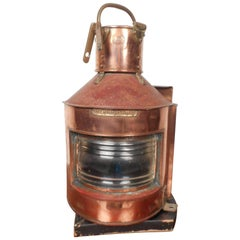 Vintage Alderson and Gyde Copper Lamp or Lantern