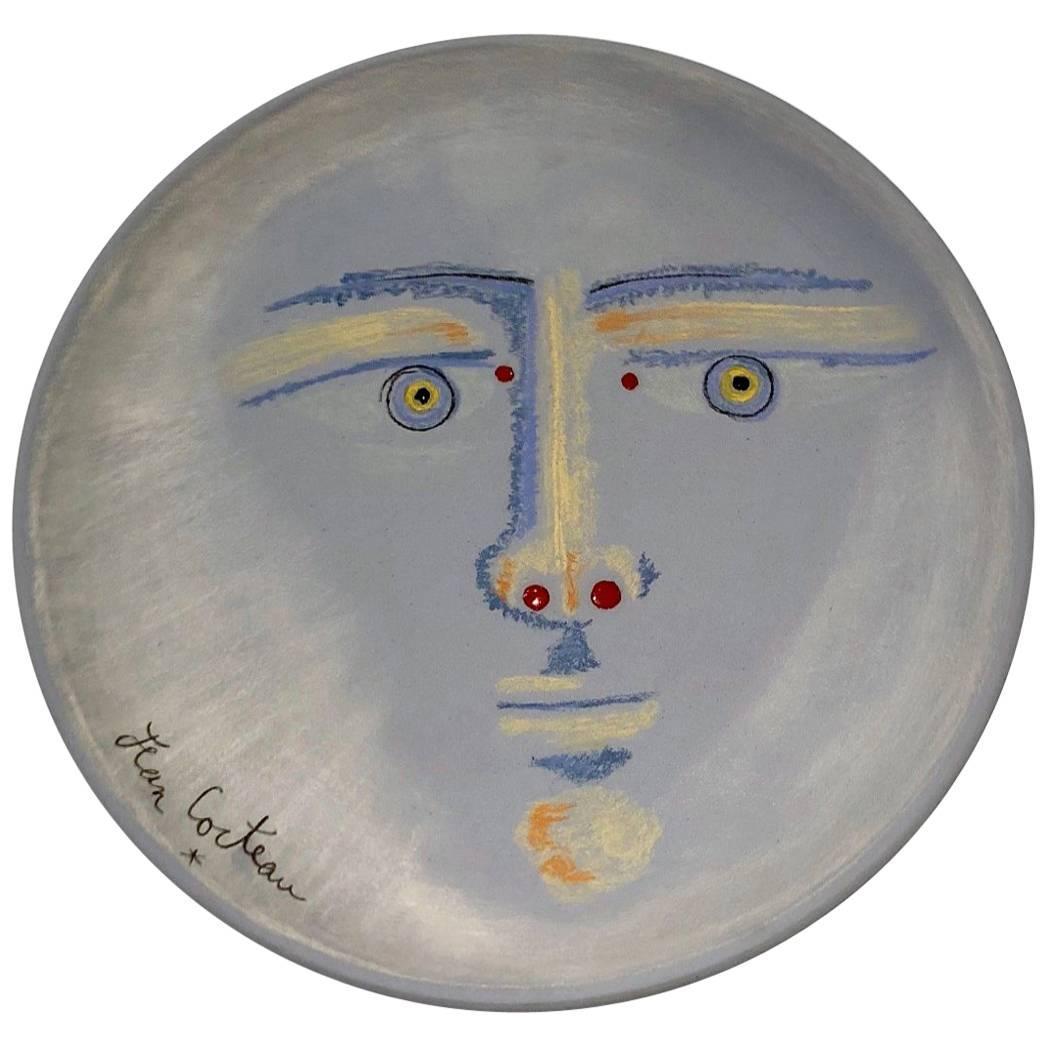 "Jean Cocteau Original Ceramic Dish ""Clair de lune"", 1958"
