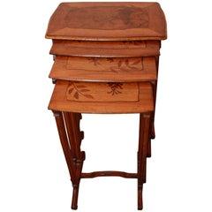 French Art Nouveau Nesting Tables