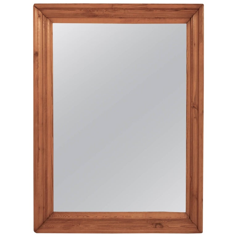 Large Victorian Wall Mirror with a Moulded Pine Frame For Sale at ...