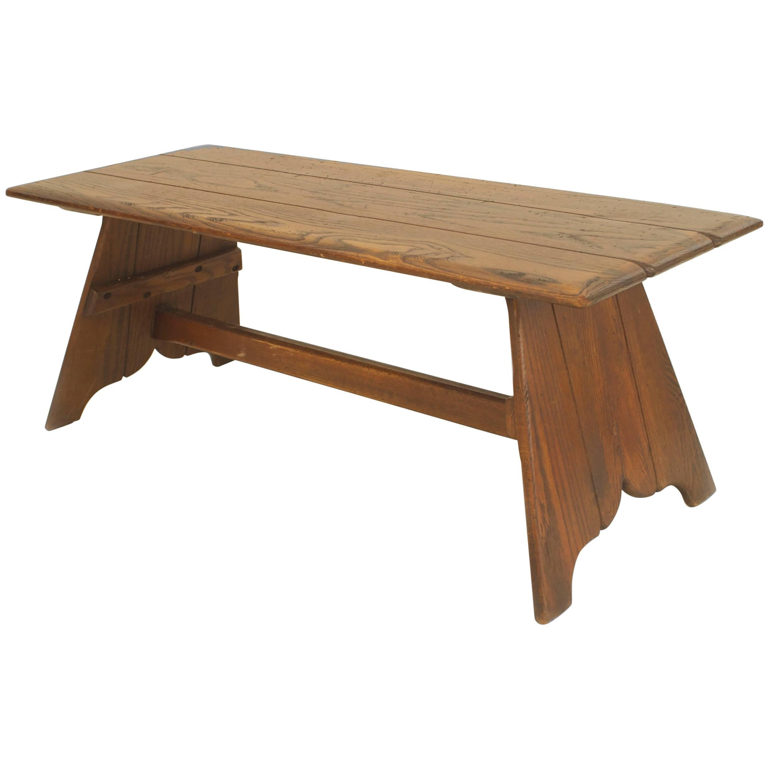 American Rustic Old Hickory Mission Style Coffee Table For Sale