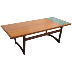 Midcentury Norwegian Teak and Mahogany Coffee Table