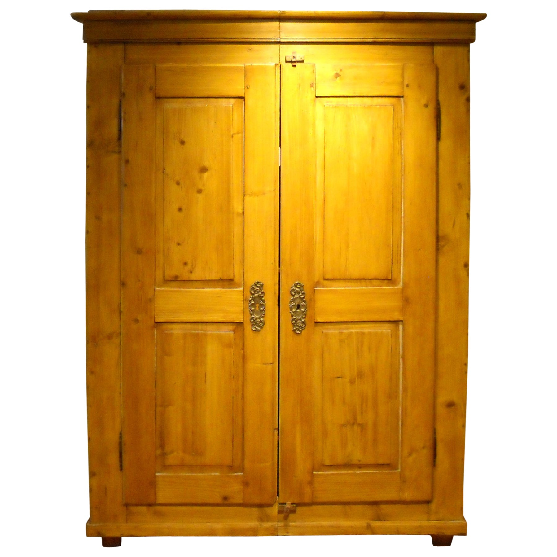 Two-Door English Pine Armoire