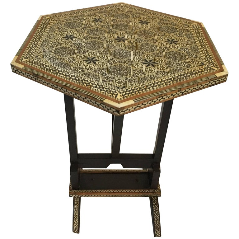 Egyptian Octagonal Side Table