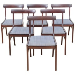 Mid-Century Modern Scandinavian Set of Six Dining Chairs Model Rungstedlund
